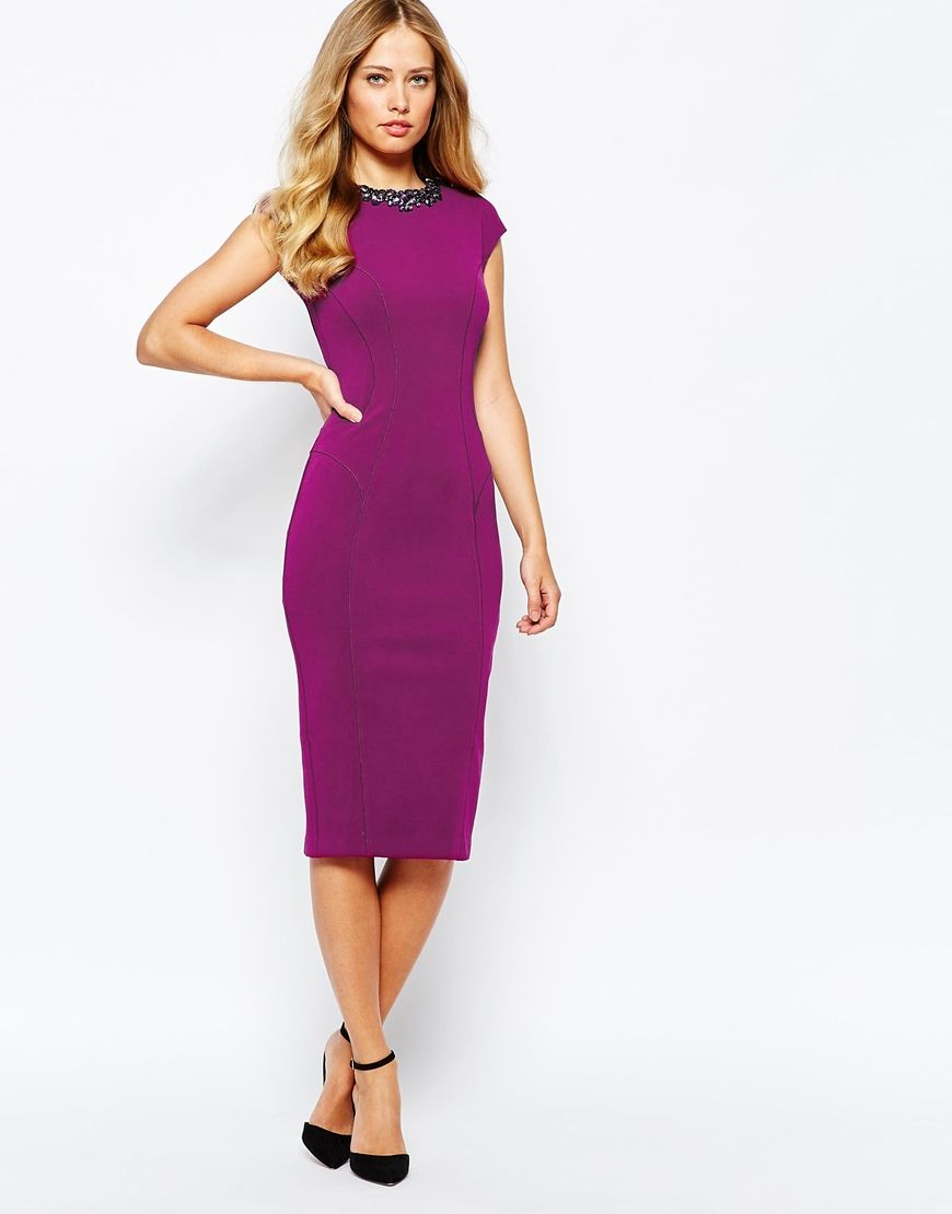 d4d4a53a7292f4 Ted Baker Dardee Embellished Bodycon Dress