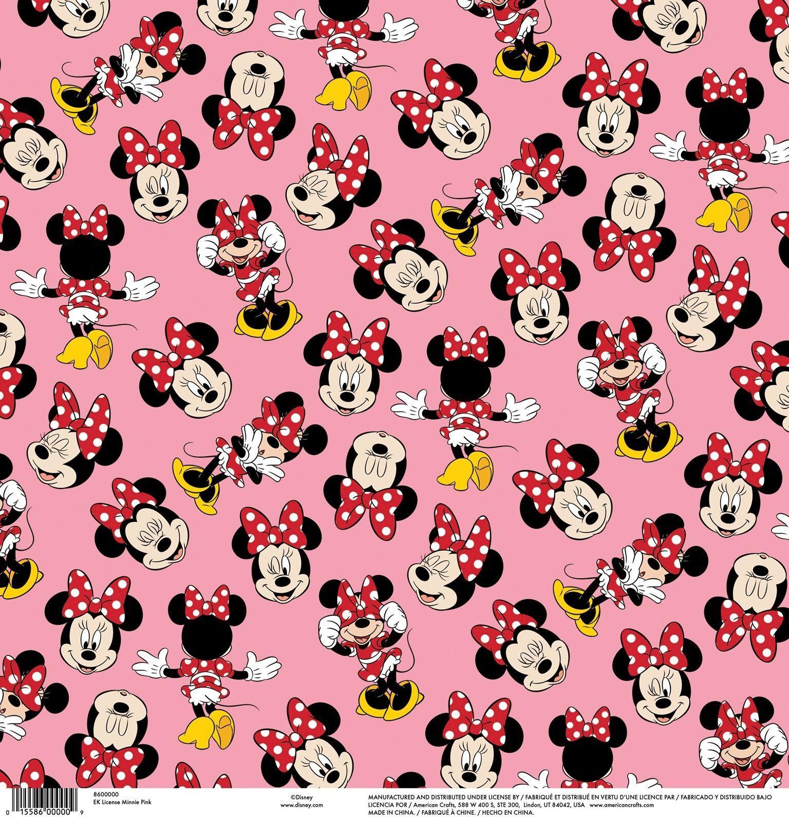 Ek Success Ek Disney Single Sided Cardstock 12 X12 Minnie Pink Mickey Mouse Wallpaper Minnie Mouse Background Cute Disney Wallpaper