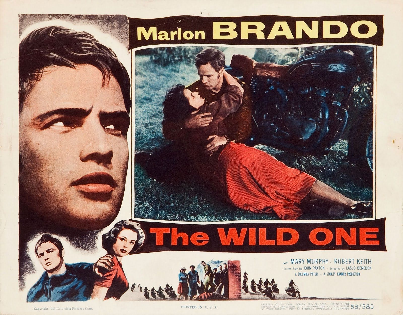 Lobby Card For Original Theatrical Release Of The Wild One At