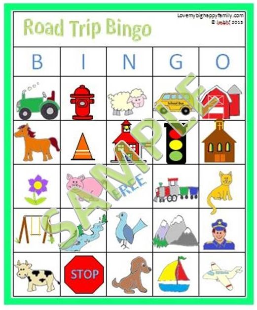 Road Trip Games Free Road Trip Bingo Printable Aaa Love My Big