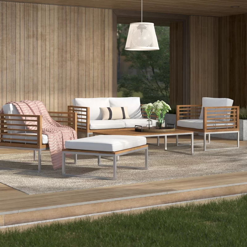 Thuban 5 Seater Sofa Set In 2020 Garden Sofa Set Sofa Set 5 Seater Sofa