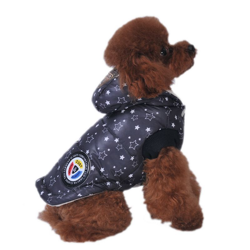 Small Pet Dog Jacket Warm Plaid Winter Dog Coats Hoodie Pet Clothes