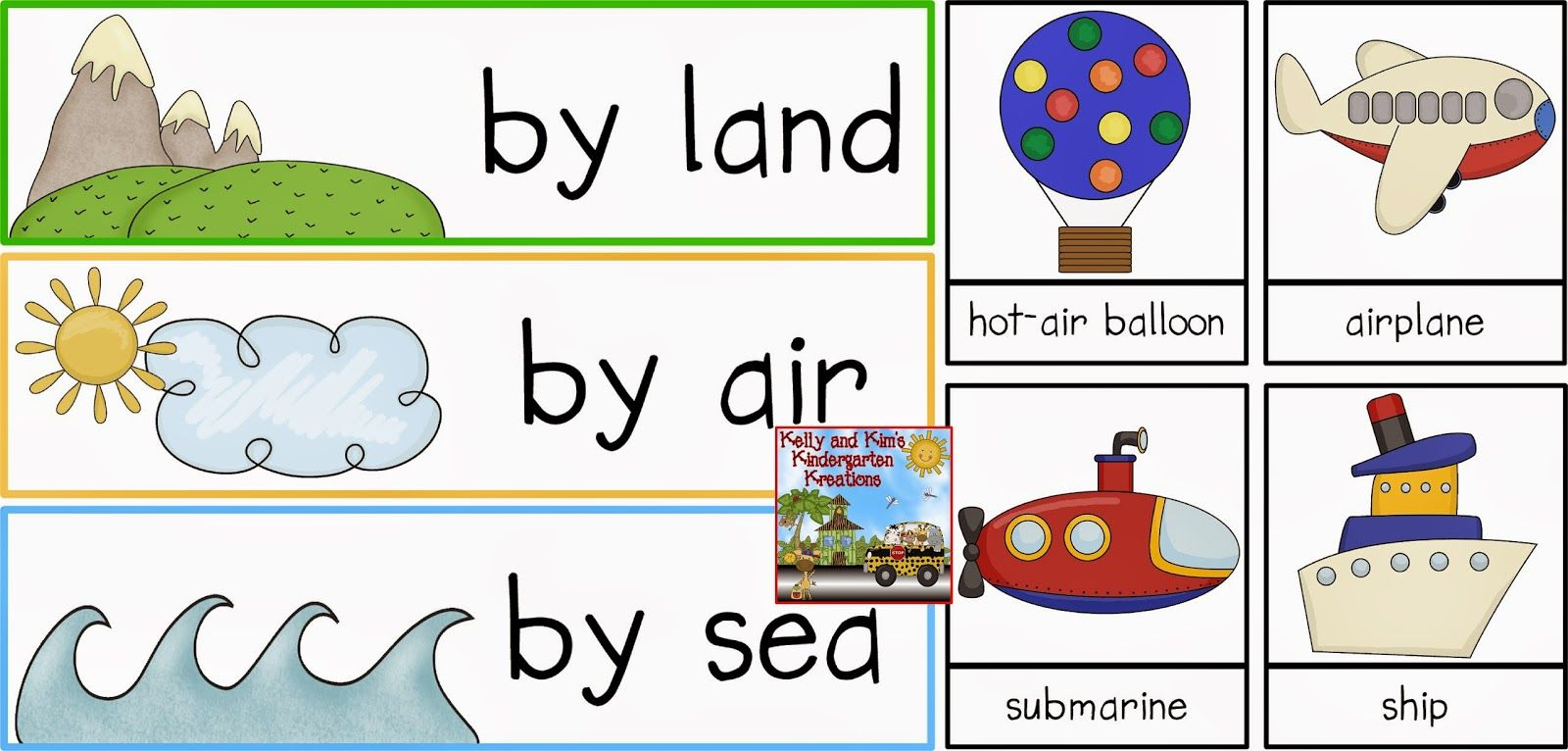 Land, Air, or Sea? Come Along and Sort With Me! A pack of