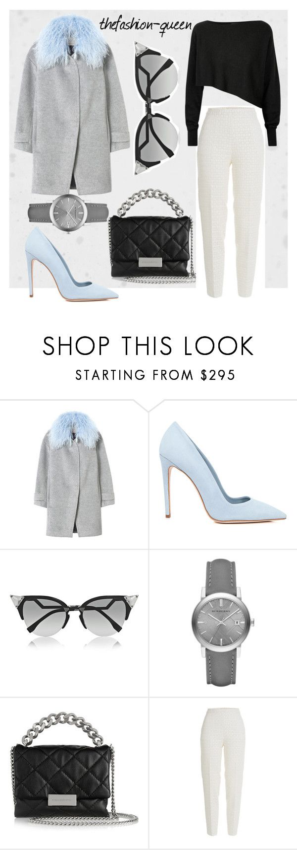 """""""Untitled #32"""" by thefashion-queen ❤ liked on Polyvore featuring Rebecca Taylor, Dee Keller, Fendi, Burberry, STELLA McCARTNEY, Giambattista Valli and Crea Concept"""