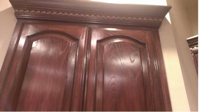 Painting The Kitchen Cabinets With Gf Brown Mahogany Gel Stain