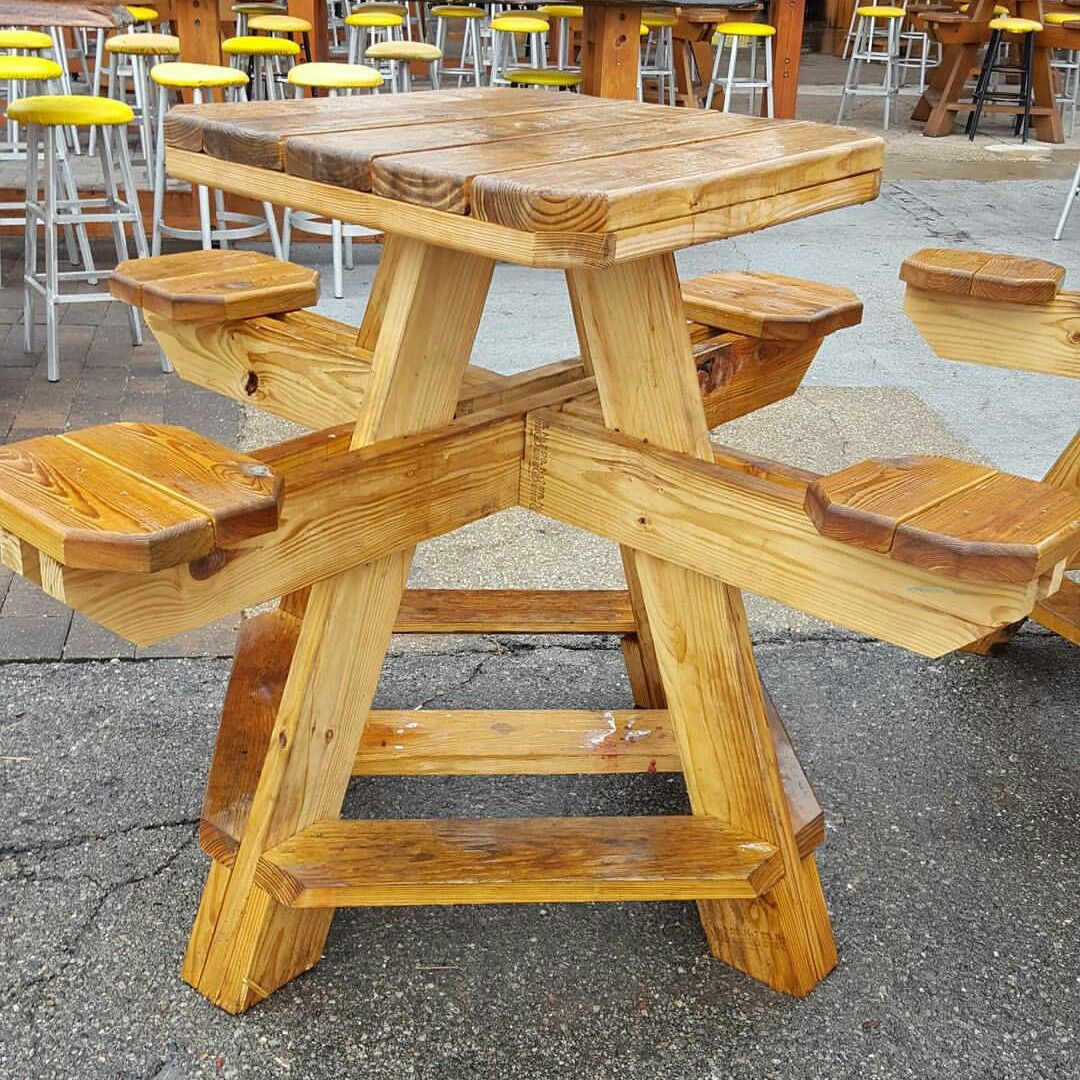 Picnic Table Great Outdoors In 2019 Woodworking