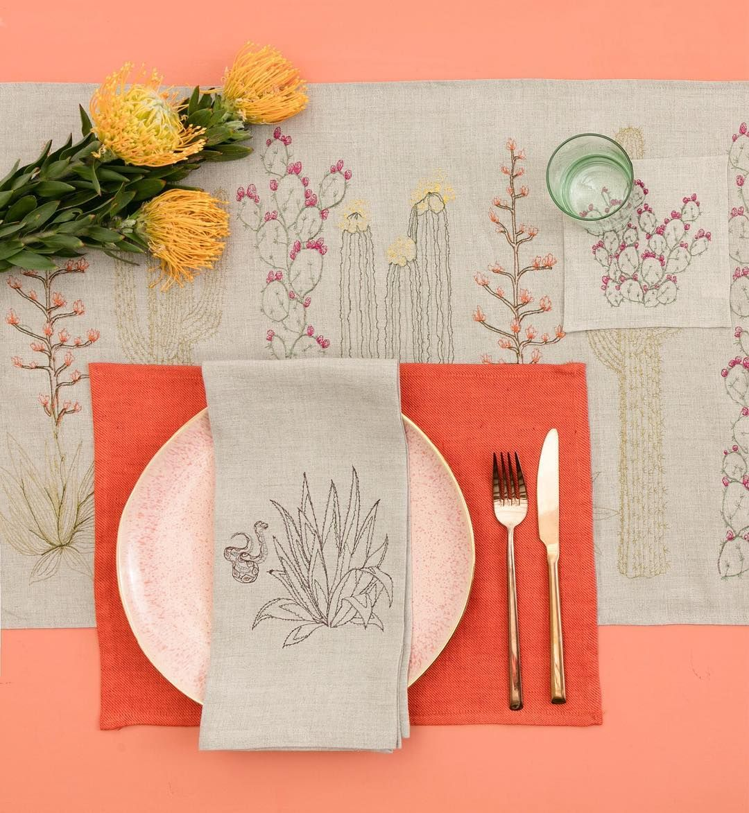 WHITE AS LINEN: coral red