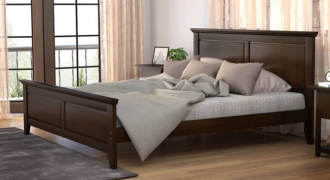 922b55f63f Somerset Bed (King Bed Size, Dark Walnut Finish) by Urban Ladder ...