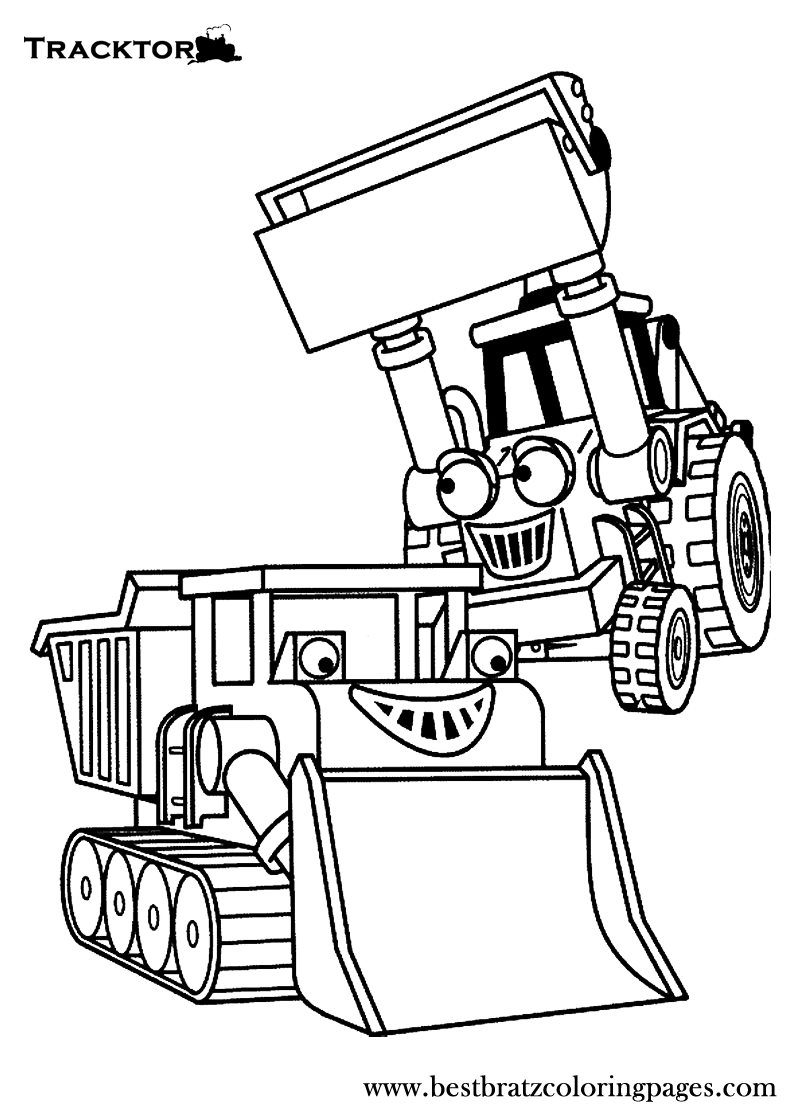 free backhoe coloring pages - photo#48