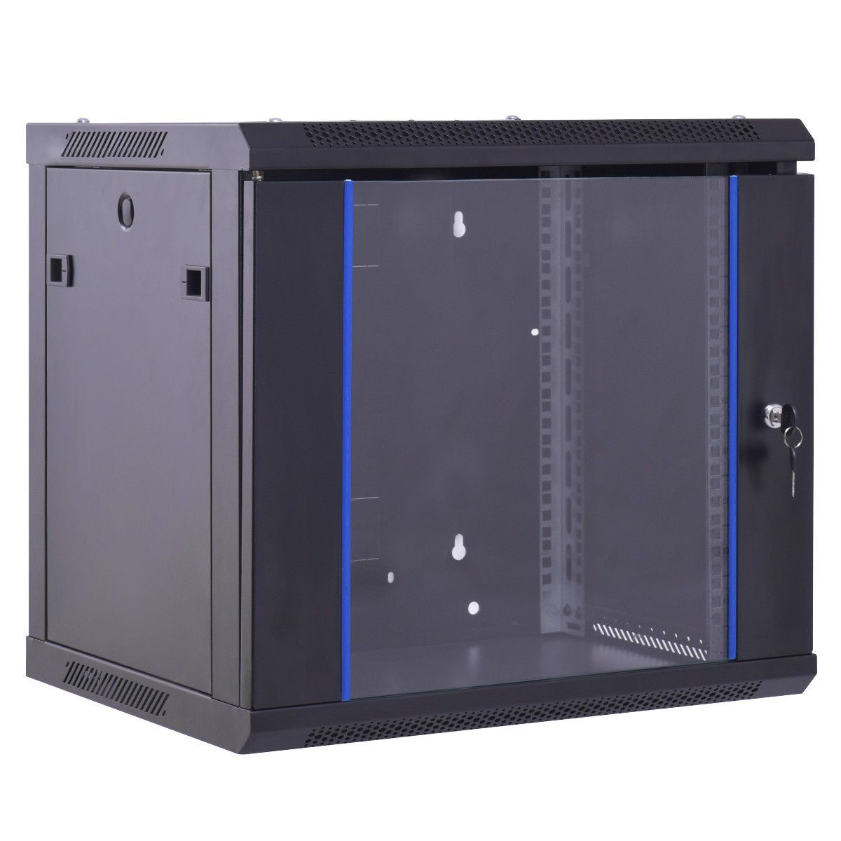 6u Wallmount Data Network Cabinet W Locking Glass Door Network Cabinet Glass Door Server Cabinet