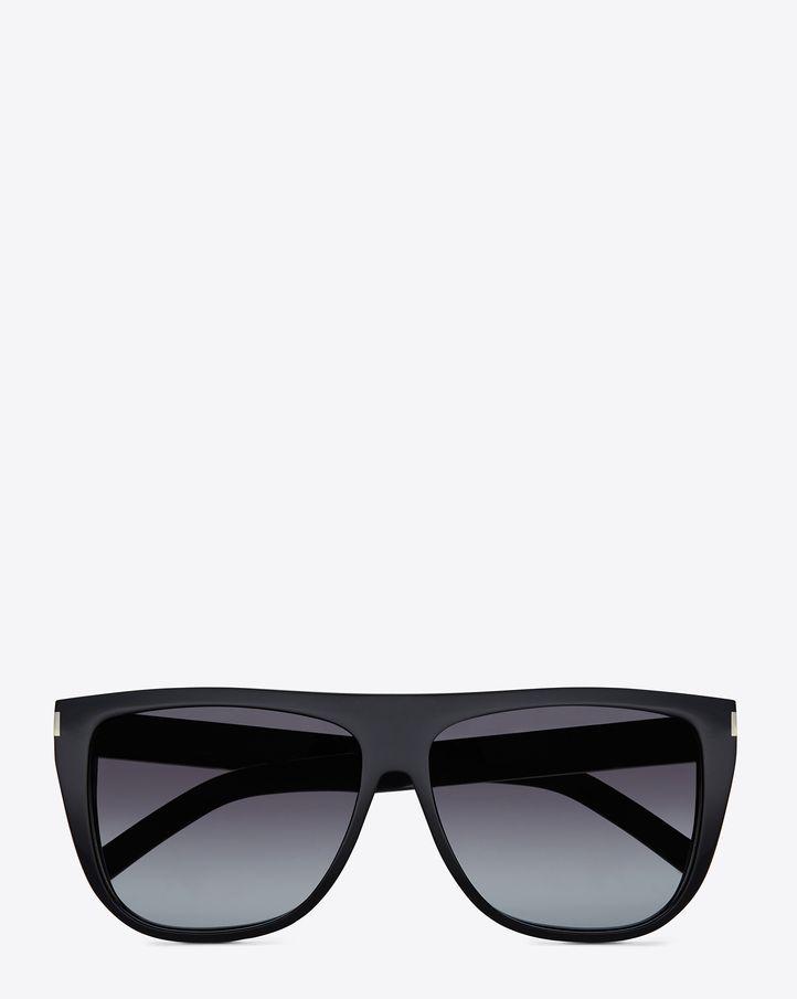 f2988f384bbd Saint Laurent SL 1 Sunglasses In Black Acetate With Grey Gradient Lenses