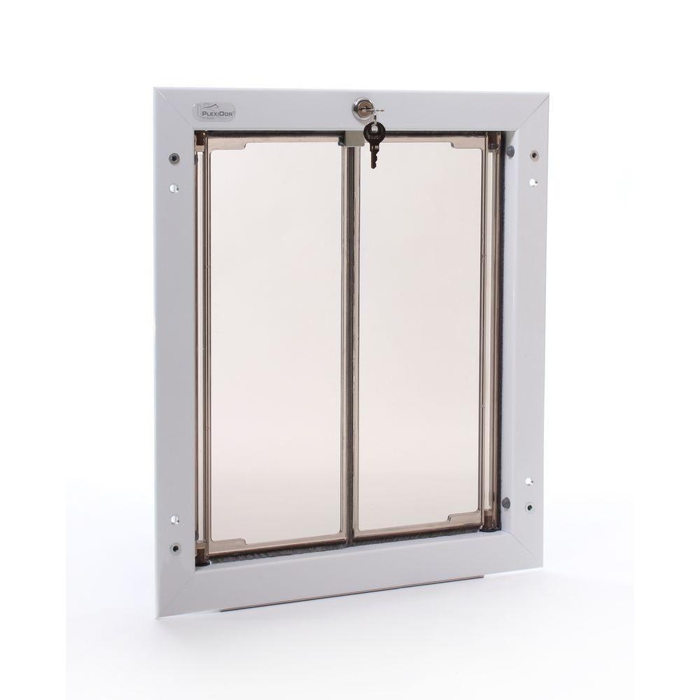 Plexidor Performance Pet Doors 11 75 In X 16 In Large White Wall Mount Dog Door Requires No Replacement Flap Pd Wall Lg Wh Pet Doors Pet Door Large Dog Door