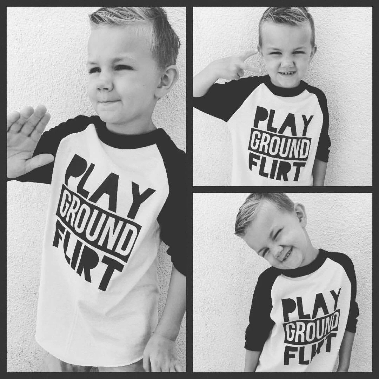 Playground Flirt, Boys clothing, baby shower gift, toddler tshirt, kids  clothing,