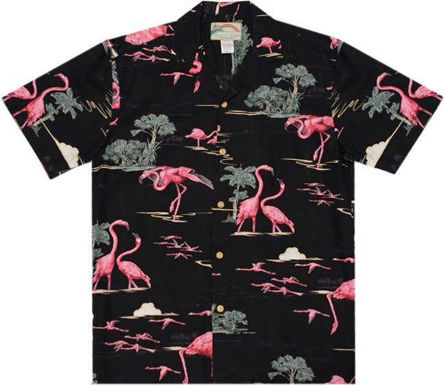 aed837cb Hawaiian shirt--hawaiian-shirt.net | Flamboyant Flamingos | Vintage ...