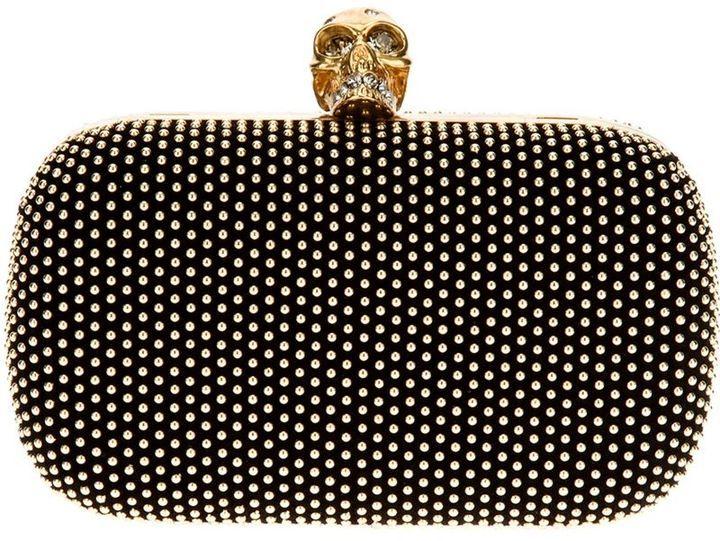 Alexander McQueen 'Skull' studded box clutch