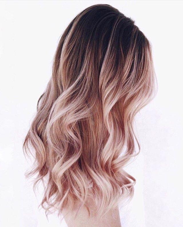 42 Trendy Rose Gold Blonde Hair Color Ideas – rose gold hair highlights, rose go… – Rosalie Becker