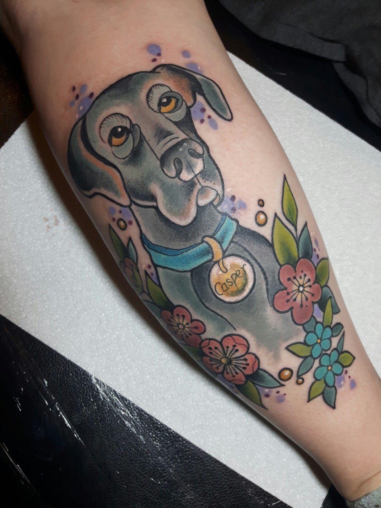 My Great Dane Tattoo Cool Tattoos Tattoos Body Art