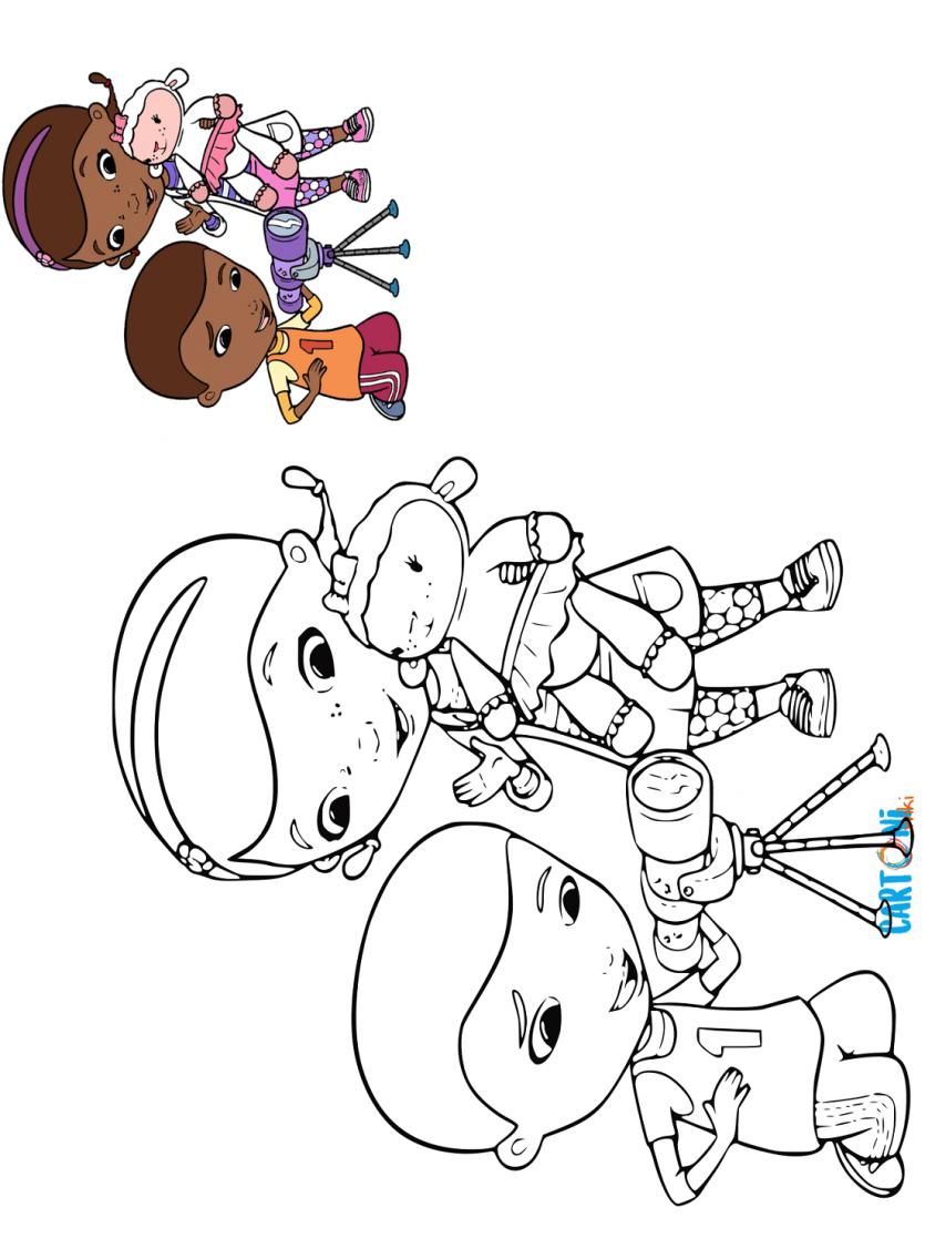 Dottoressa Peluche Da Colorare Cartoni Animati Disegni Da Colorare