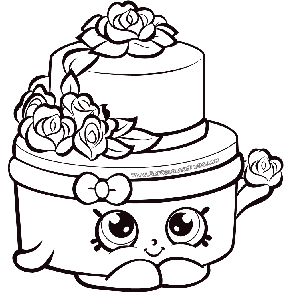 photo regarding Shopkins Coloring Pages Printable called Shopkins Year 7 Wedding ceremony Cake Coloring Site dibu para