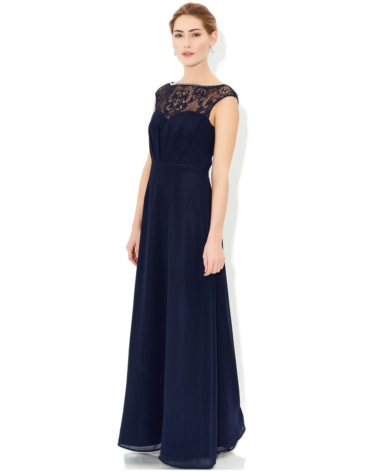 Buy bridesmaid dresses maisie maxi dress blue navy for Navy blue maxi dress for wedding