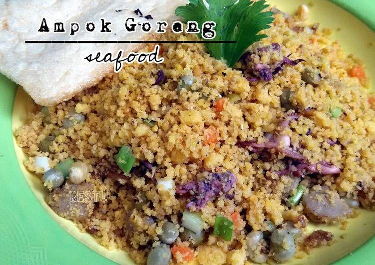 Resep Sego Ampok Goreng Seafood Nasi Jagung Goreng Seafood Oleh Rachma Esty Utami Resep Makanan Makanan Laut Memasak