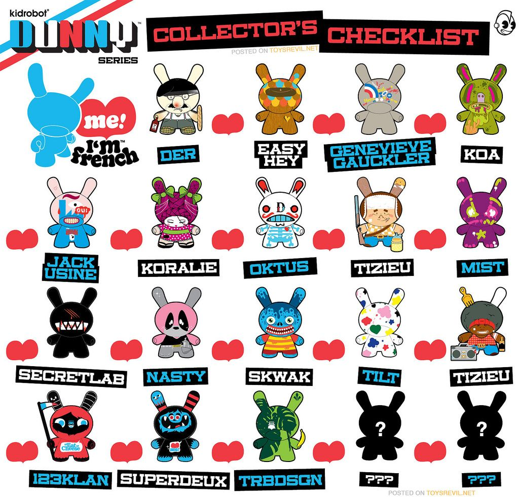 Dunny French Series Blind Box Blinds French Collection
