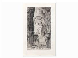 Artwork by Louis Marcoussis, Guillaume Apollinaire, Made of Etching with aquatint and drypoint on laid paper Arches