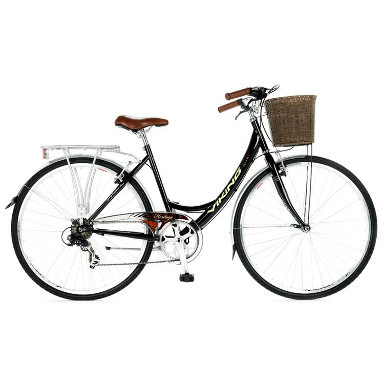 Ladies Dutch Style Brown 28 inch Milord 3 Speed 2018 City Comfort Bike with Basket