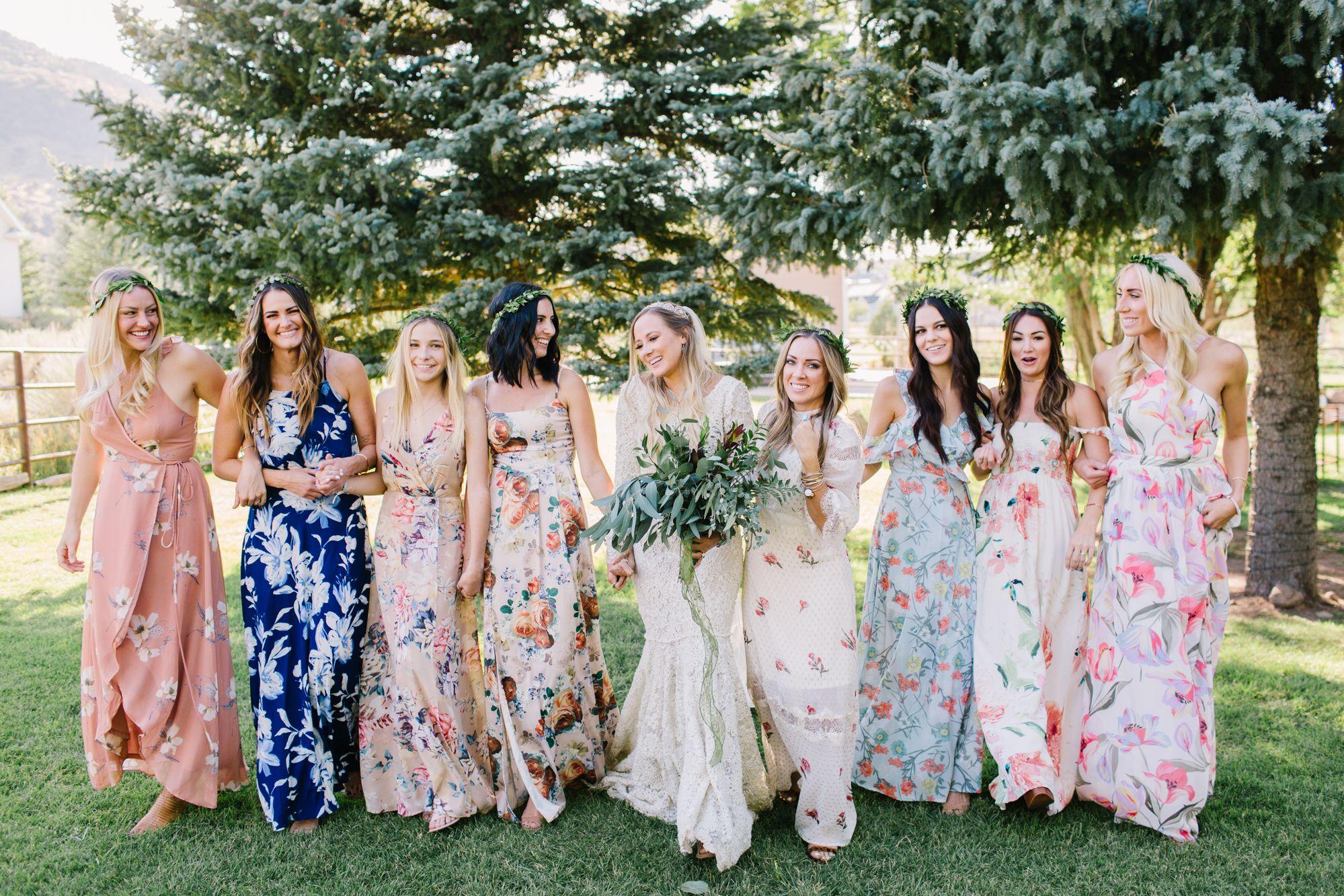Mismatched Floral Bridesmaid Dresses Floral Bridesmaid Dresses Mismatched Floral Bridesmaid Dresses Casual Bridesmaid Dresses