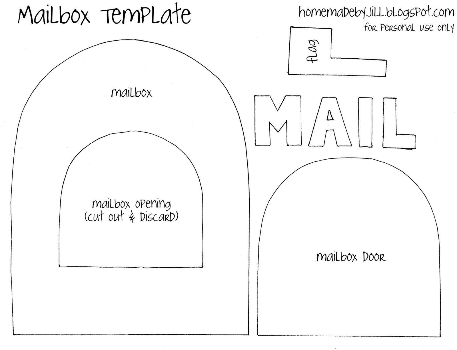 Mailbox Template For Valentine S Day Quiet Book Templates Quiet Book Patterns Quiet Book