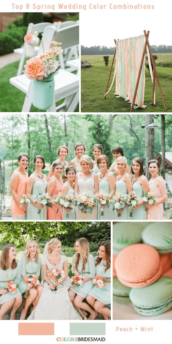 Top 8 Spring Wedding Color Palettes For 2019 Pink Wedding
