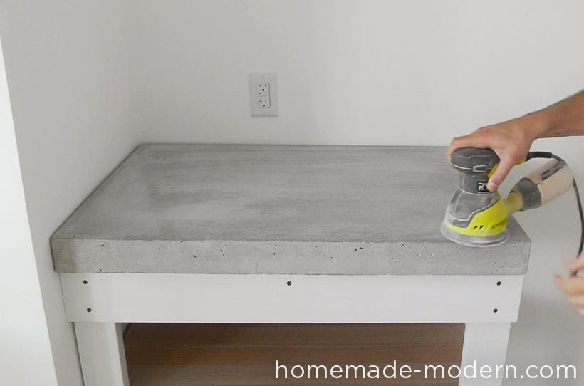 Homemade Modern Diy Ep87 Concrete Kitchen Countertops Step 17 Glamorous Concrete Kitchen Countertops Decorating Inspiration