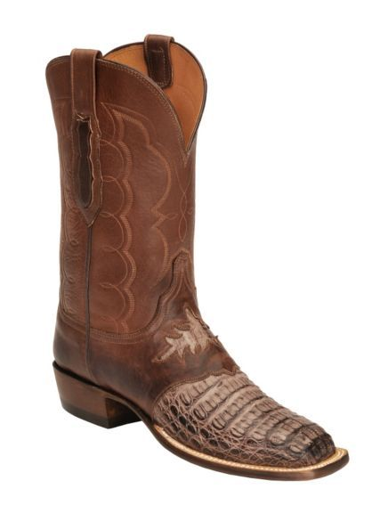 bdc50dc0b5e Lucchese Handcrafted Waxy Hornback Diego Inlay Cowboy Boots - Square ...