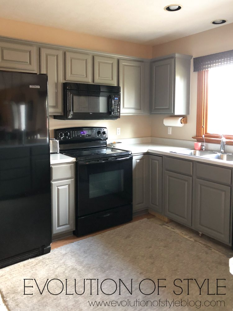Painted Kitchen in Sherwin Williams' Dorian Gray
