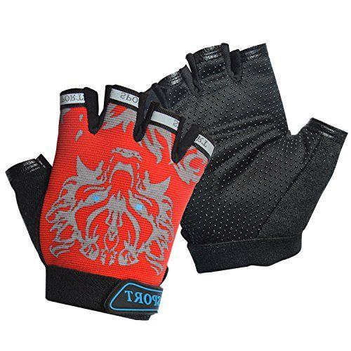 Kids Cycling Gloves Freehawk Non-Slip Ultrathin Children Half Finger Bicycle...