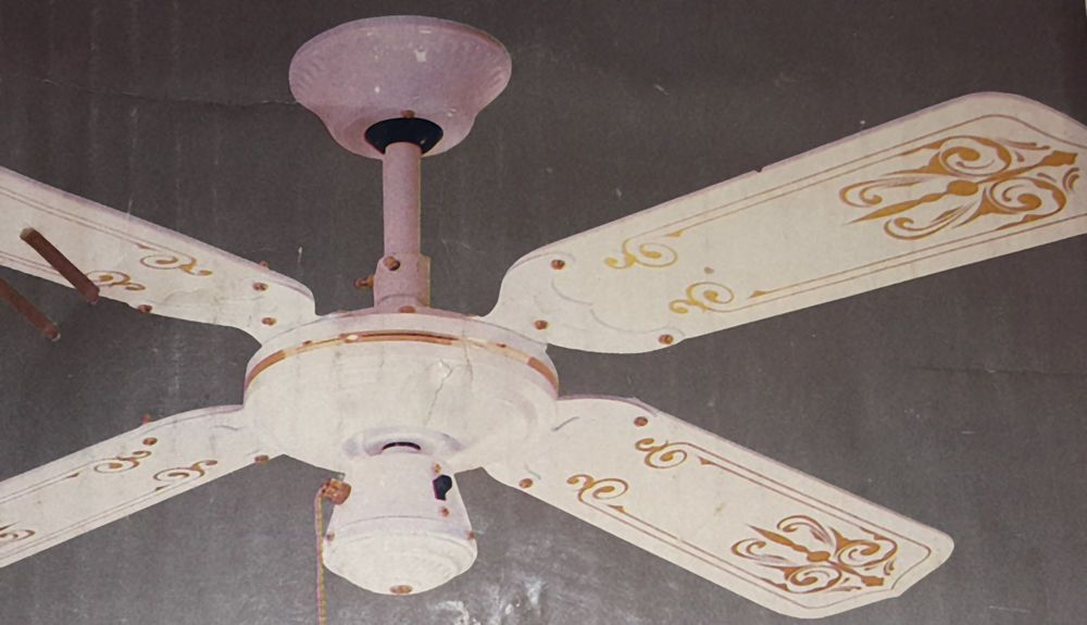 Stencil On Ceiling Fan Blades And Painted Brackets Ceiling Fan