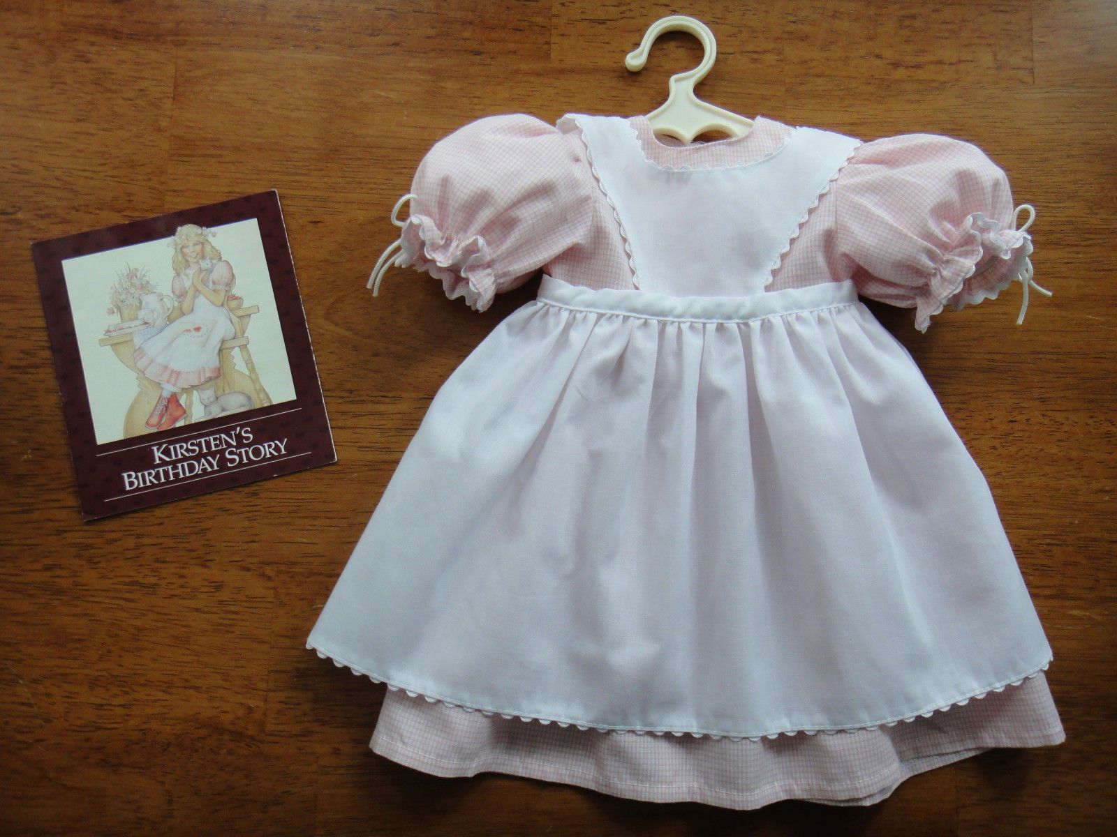 White lace apron ebay - Pleasant Company Kirsten S Apron Dress Birthday Outfit