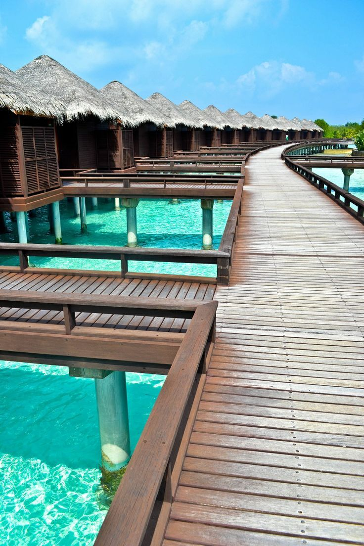 Sheraton Maldives Full Moon Resort & Spa - Overwater bungalows, private pool villas and just a short speedboat ride from the international airport in Male. The only downside? You miss out on the seaplane flight needed to reach most of the Maldives resorts.