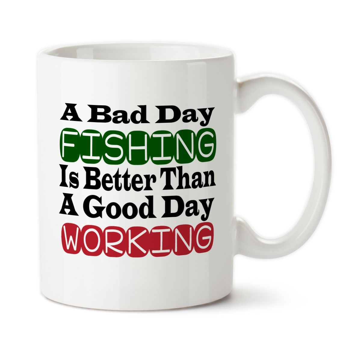 Coffee Mug A Bad Day Fishing Funny Humor Fishing Sarcastic Fishing Retired Retirement Gift Mugs Funny Coffee Mugs Funny Mugs