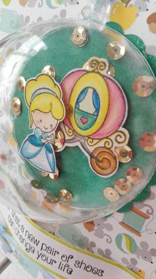 piccole polpette crescono: CINDERELLA IN A BUBBLE CARD #clearlybesotted #cinderella #handmadecard #doodlebugdesign #sizzix