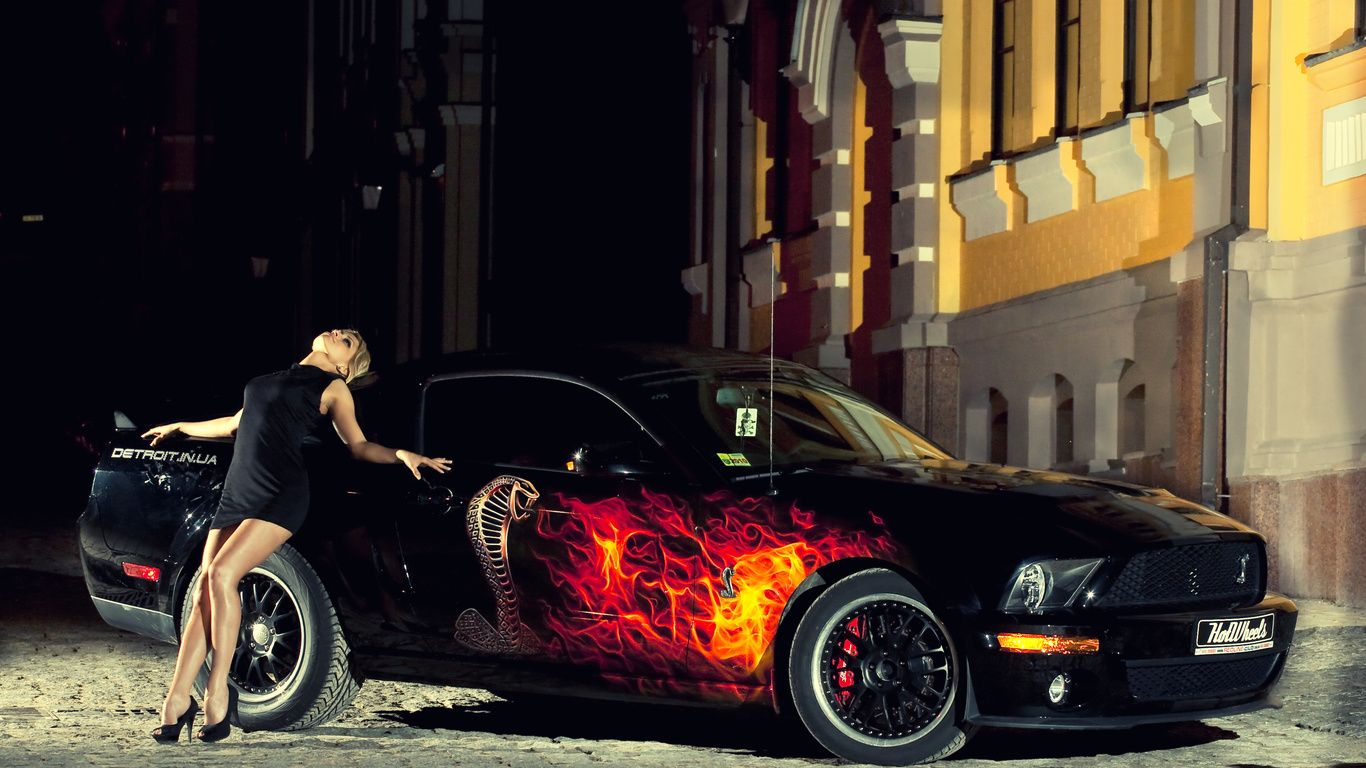 Anime pin up girls wow girl wallpapers mustang auto night ford cars photo cars