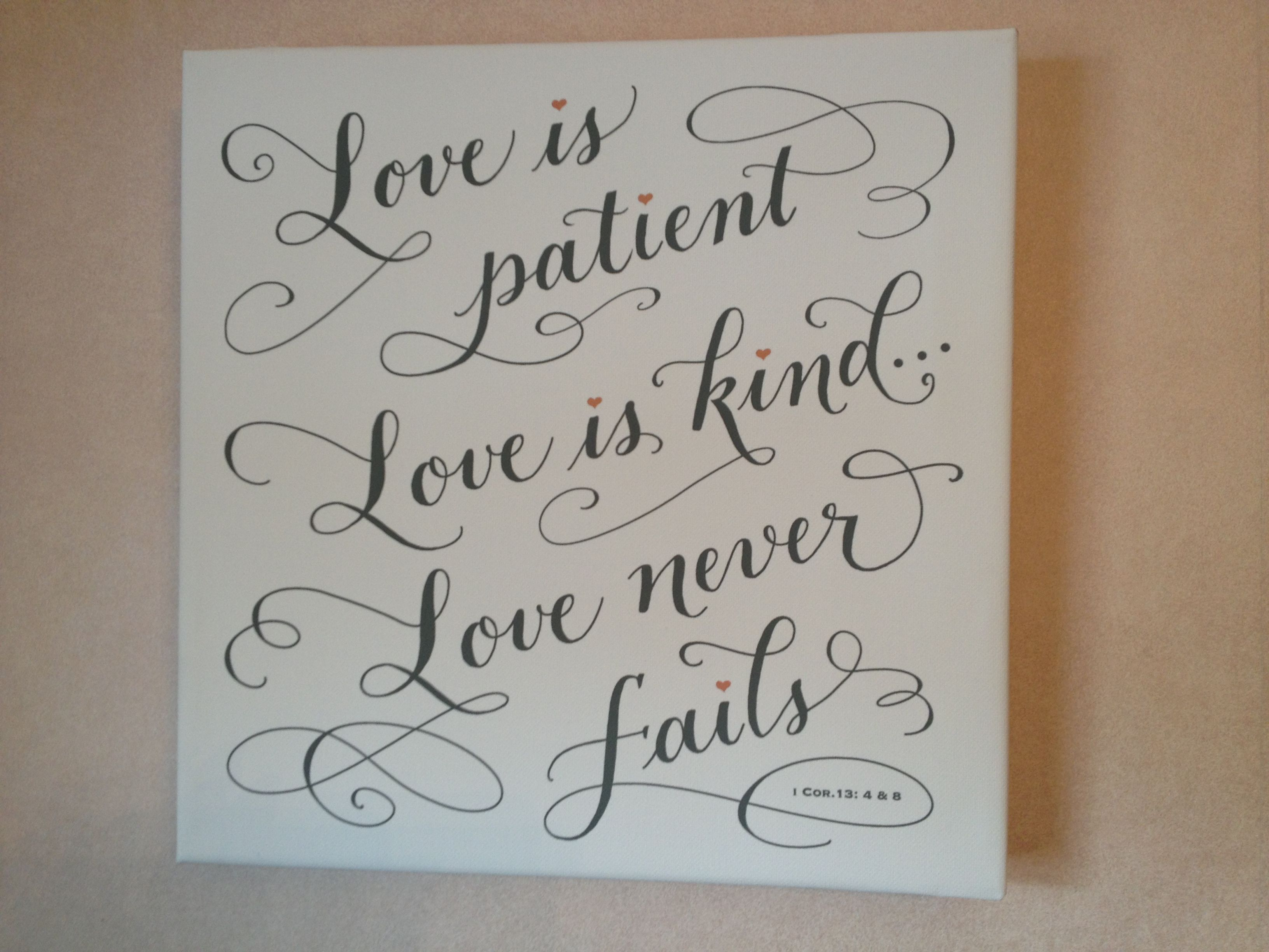Love Is Patient, Love Is Kind, I Corinthians 13