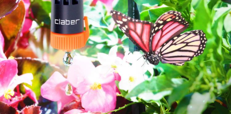 Gocciolatore in linea 0-10 l/h Plus.  Distribuisce l'acqua ad una singola pianta, goccia dopo goccia, con estrema precisione. Facilmente regolabile per ogni esigenza di irrigazione, si innesta perfettamente e senza perdite d'acqua sul tubo capillare, con una semplice pressione. http://www.claber.it/prodotti/scheda-prodotto.asp?cod=91218