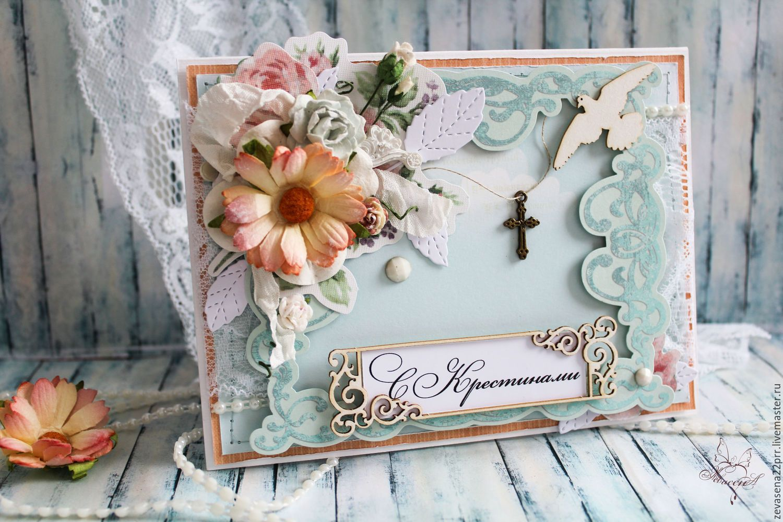 Скрапбукинг на крестины открытка