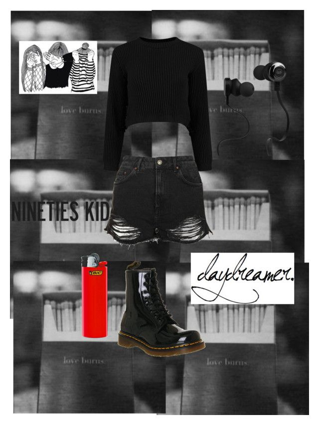 """""""Sweater Weather - The Neighbourhood"""" by lovelylunahemmings ❤ liked on Polyvore featuring Topshop, Dr. Martens and Monster"""