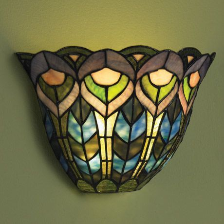 Wireless Wall Sconce Peacock Battery Operated Wall Sconce