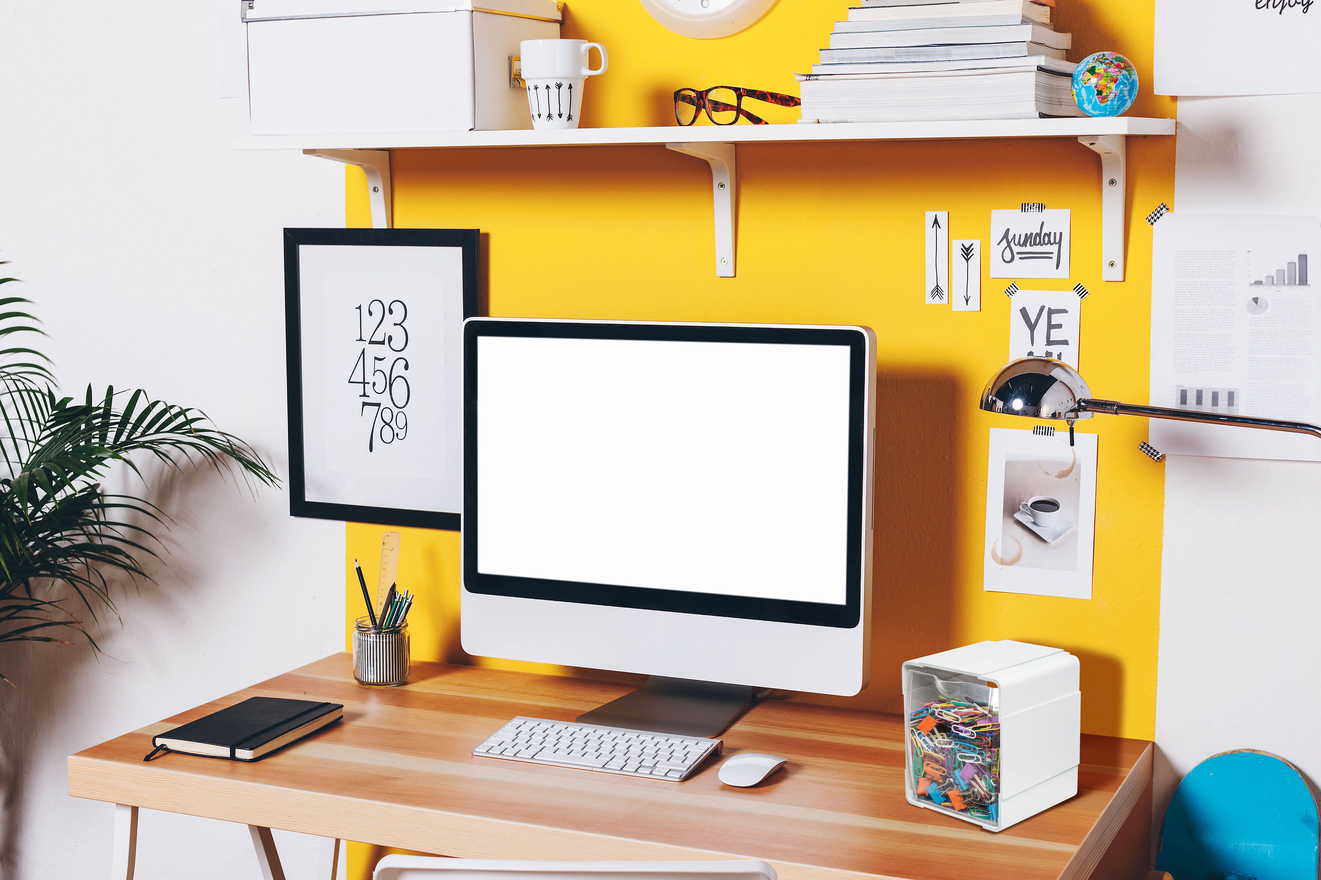Dorm Room Too Small Our Tilt Bins Can Stack Together Or Mount To The Wall Saving You Space To Store All Of Your School Accesso Home Office Decor Office Storage