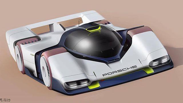 "Sketch Storm on Instagram: ""Porsche LMP by @sm_pt_#porsche #lemans #electriccar #design #car #photoshop #rendering #cardesign"""