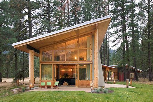 Small Wooden House Architecture Design Cabin Ideas