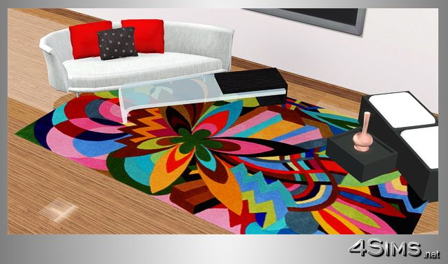 Colorful Contemporary Rugs Designer Modern In 5 Styles 4sims
